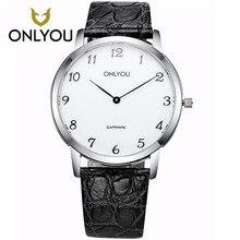 ONLYOU Gift Clock Wristwatch Women Men's Watches Fashion Leisure Watch 5Bar Waterproof Luxury Brand Quartz Female Watches