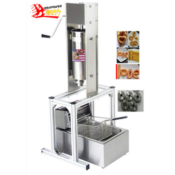 Máquina para hacer Churros comercial de 5 L, incluye freidora de 6L y boquilla de 3 Churros, máquina para hacer churros de acero inoxidable