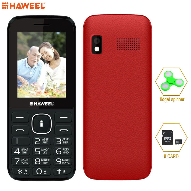 Russian English Keyboard elder Phone Big Speaker Haweel X1 2 4 inch 1500mAh Battery Dual SIM