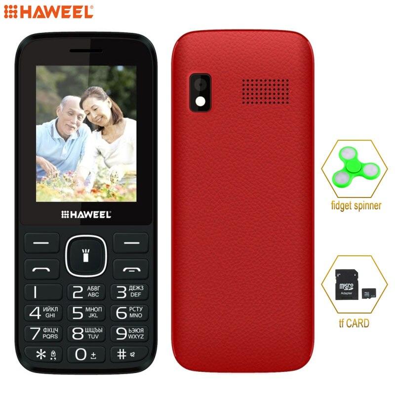 Russian Keyboard elder Phone Big Speaker Haweel X1 2 4 inch 1500mAh Battery Dual SIM Support