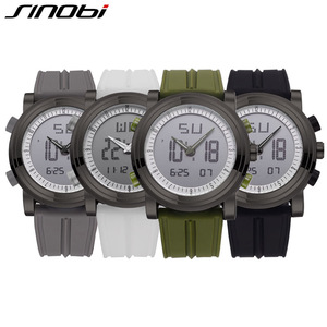 Image 5 - Relogio Masculino SINOBI ספורט דיגיטלי קוורץ שעוני יד עמיד למים קוורץ גברים של שעון ז נבה Hybird שעונים erkek kol saati