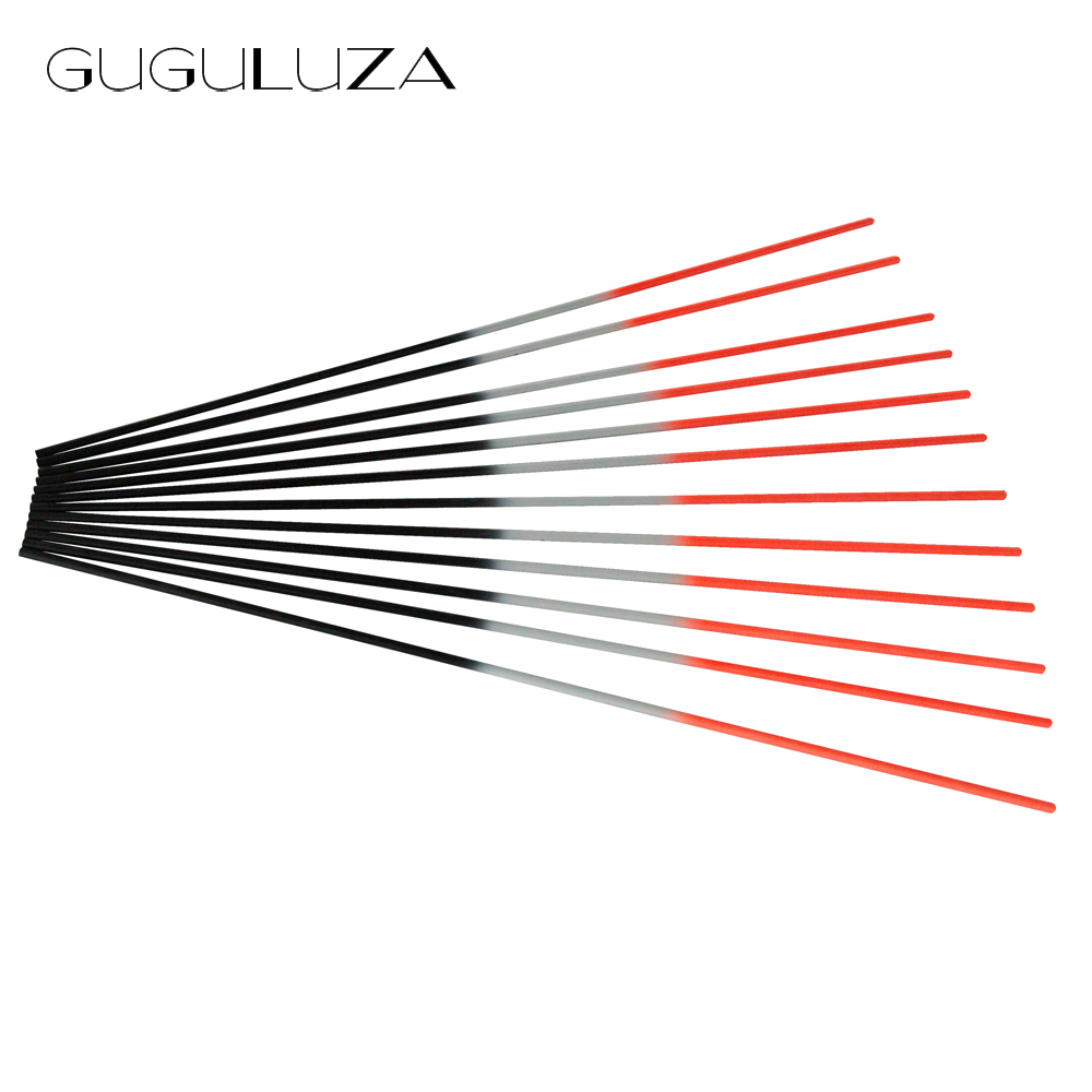 GUGULUZA 30 Pure Carbon Arrow Shafts Fluorescent Orange Shaft for Compound bow Outdoor Hunting Archery Shooting 12pcs/lot 12 archery carbon arrow spine300 340 400 500 600 fluorescent yellow shaft compound bow shoot id6 2mm protect ring nock