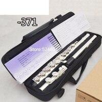 Cupronickel Flute 16 hole C Key High Quality Professional authentic Flute 371 instrumentos musicais,ocarina,flauta
