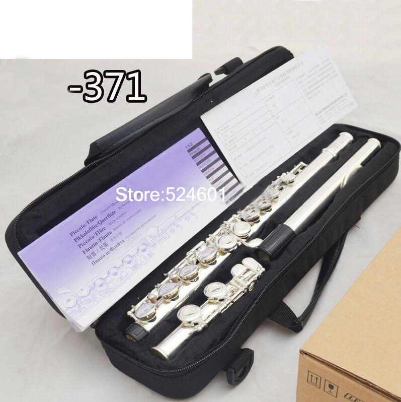 Solid Silver Plated Cupronick Flute 16 hole C Key High Quality Professional authentic Flute instrumentos musicais
