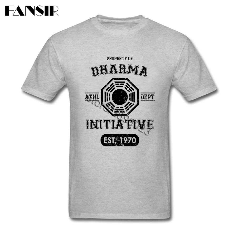 Dharma Initiative Lost TV Show Одежда Geek Мужская футболка с коротким рукавом 100% хлопок круглым