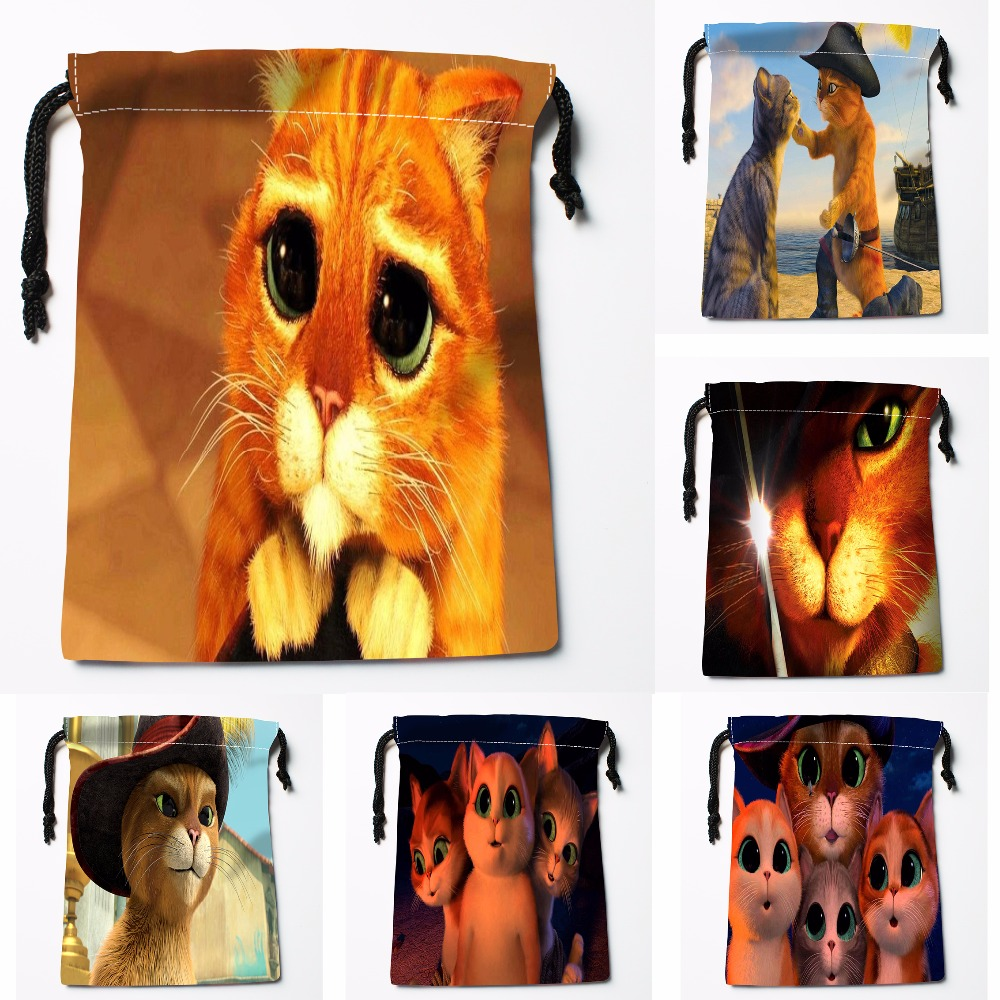 Custom Adorable Cat Drawstring Bags Printing Fashion Travel Storage Mini Pouch Swim Hiking Toy Bag Size 18x22cm#180412-11-01