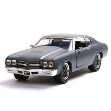 Chevrolet American Muscle Car SS Alloy Model Dodge Classic 1:24 Pendulum Diecast Pull Back Flashing Luxury Toys