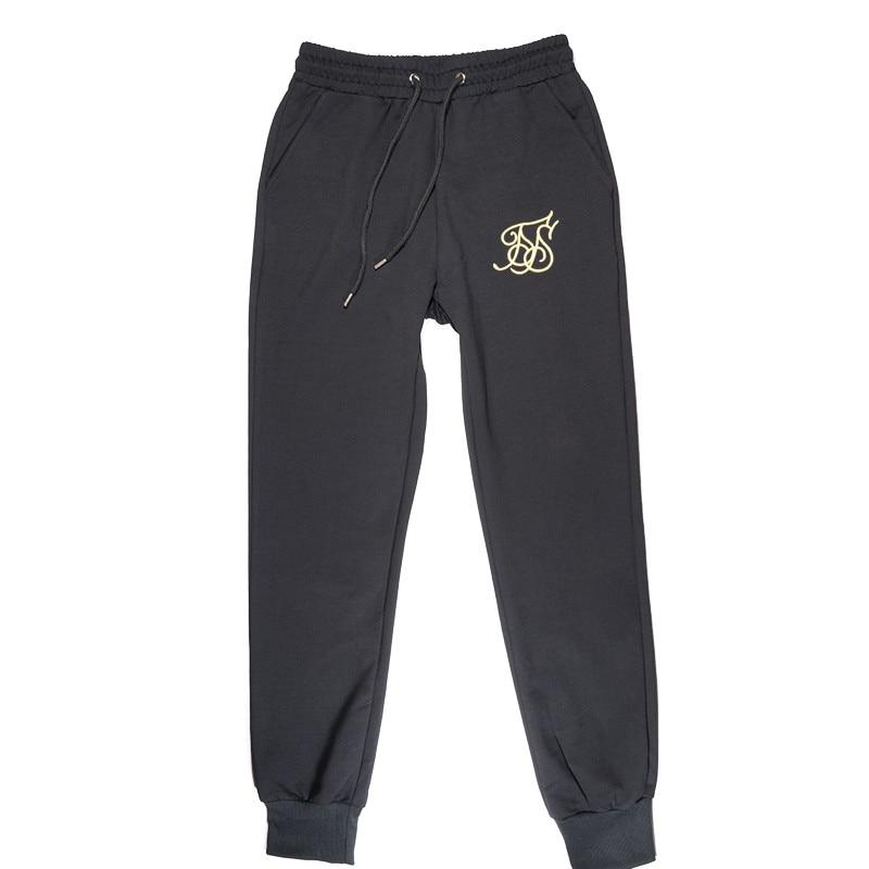 2018 Herbst Casual Jogginghose Einfarbig Mode High Street Männer Hosen Sik Silk Jogger Super Marke Hohe Qualität Fitness Hose 100% Original