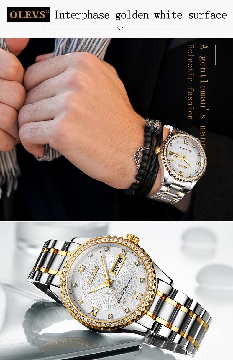 2018 OLEVS Luxury Brand Watch Men's Analog Quartz Auto Date Watches Man Waterproof Clock Men Sport Stainless Steel Wrist Watch 19