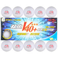 10 bolas de pescado doble 3 estrellas V40 + pelotas de tenis de mesa 40 + nuevo Material cosido plástico ABS Pelotas de ping pong