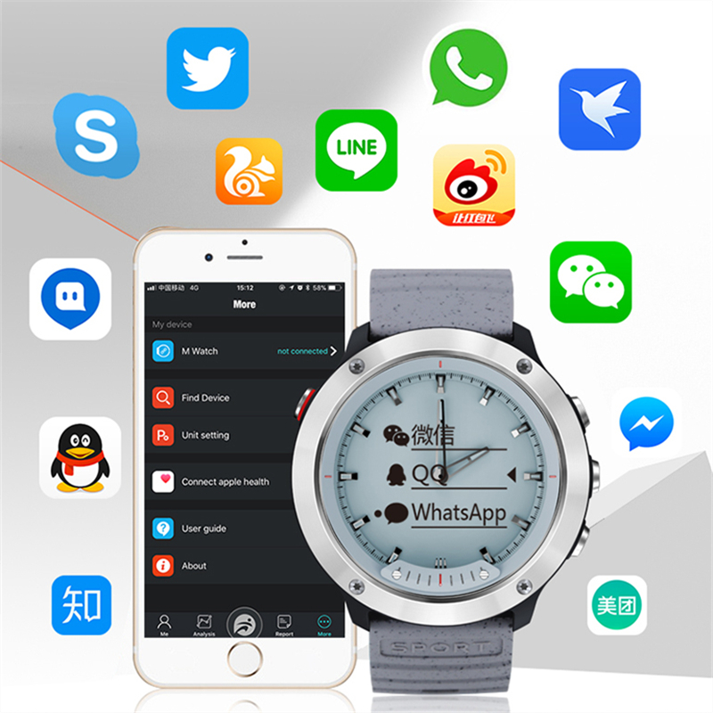 Fashion Sports Smart watch M5 Transparent Screen IP68 waterproof luminous hand rate Monitor stainless Steel frame smart watchFashion Sports Smart watch M5 Transparent Screen IP68 waterproof luminous hand rate Monitor stainless Steel frame smart watch