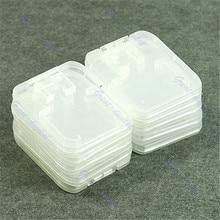 10pcs TF MiC SDHC Micro SD Memory Card hard Plastic Box Case White