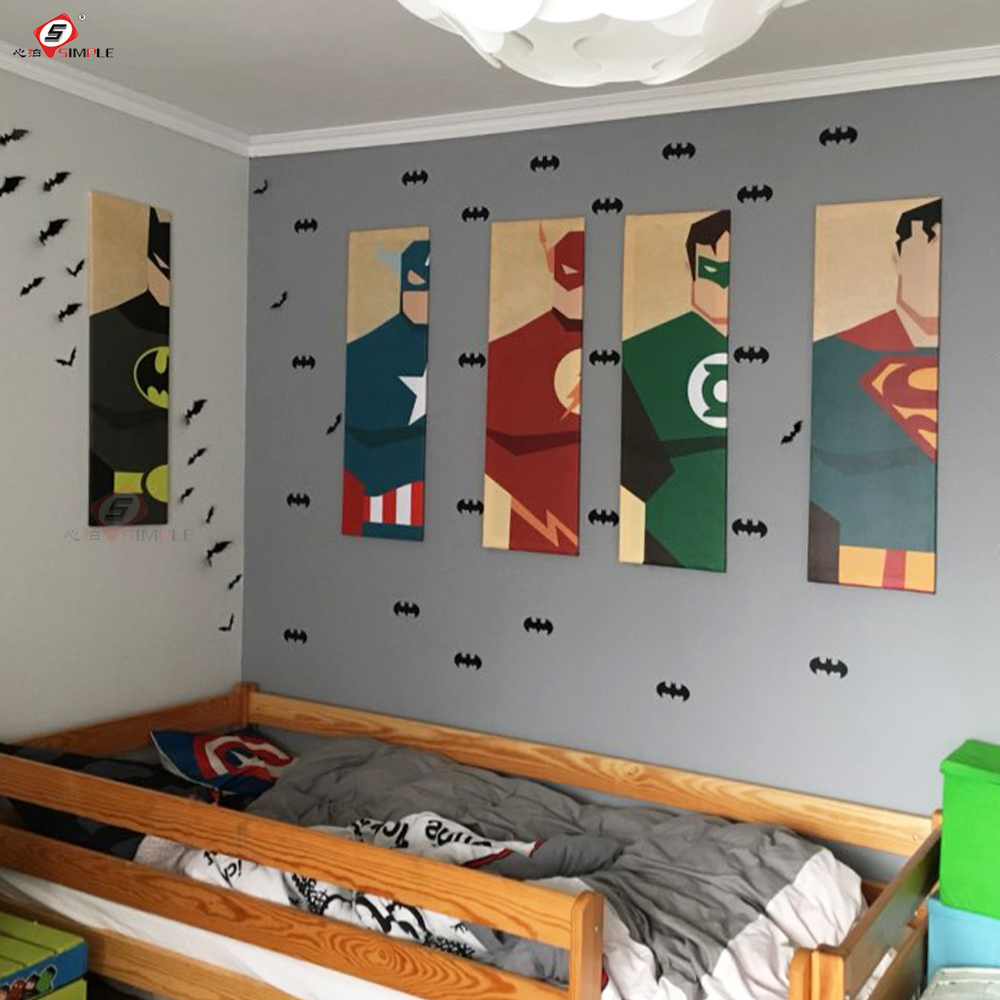 Oil Painting Canvas Super Hero Batman Cartoon Modular Pictures on The Wall Home Decoration Modern Wall Pictures for Living Room