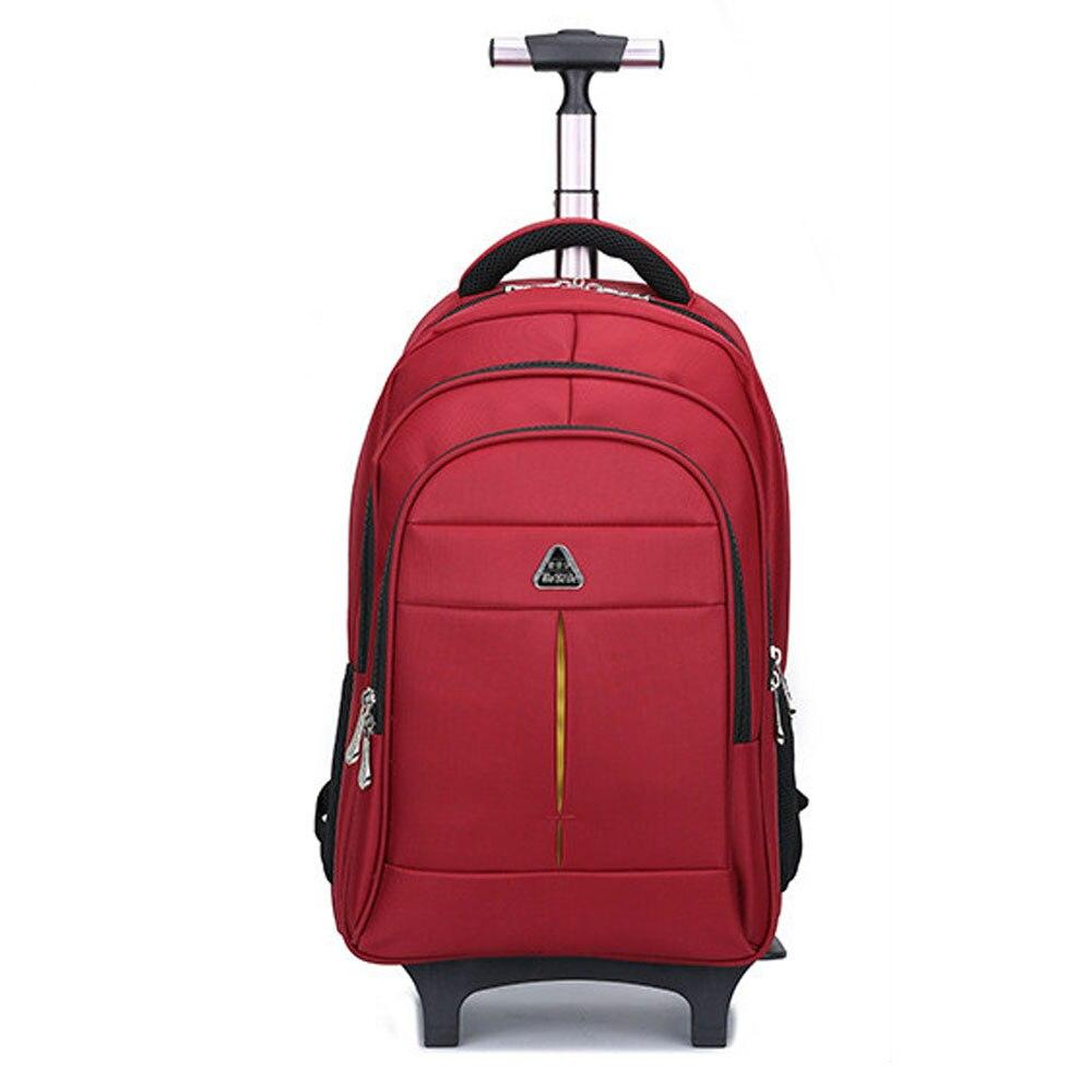 Femmes voyage sacs à dos avec roues hommes affaires voyage Trolley sacs bagages chariot sac roulant étanche Oxford sac à dos