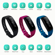 v07 Blood Pressure Wireless Smart Bracelet Heart Rate Monitor for Android & iOS