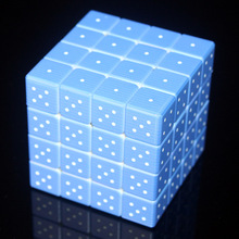 Custom Cube UV Printing 4x4x4 Braille Fingerprint 3D Relief  4*4*4 Stickerless Cubo Magico Educational Toys for Children Boys