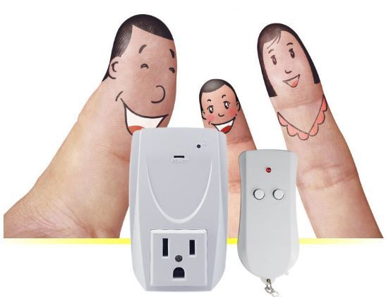 US 1-Pack Wireless Remote Control Power Socket Plug Outlet Switch Home Appliance 3 pack wireless remote control power outlet switch plug socket infrared heater panel wireless socket