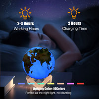 Usb Colorful Moon Lamp Painted Earth Lamp Jupiter Lamp Rechargeable Change Touch 3D Led Night Light Home Creative Gift