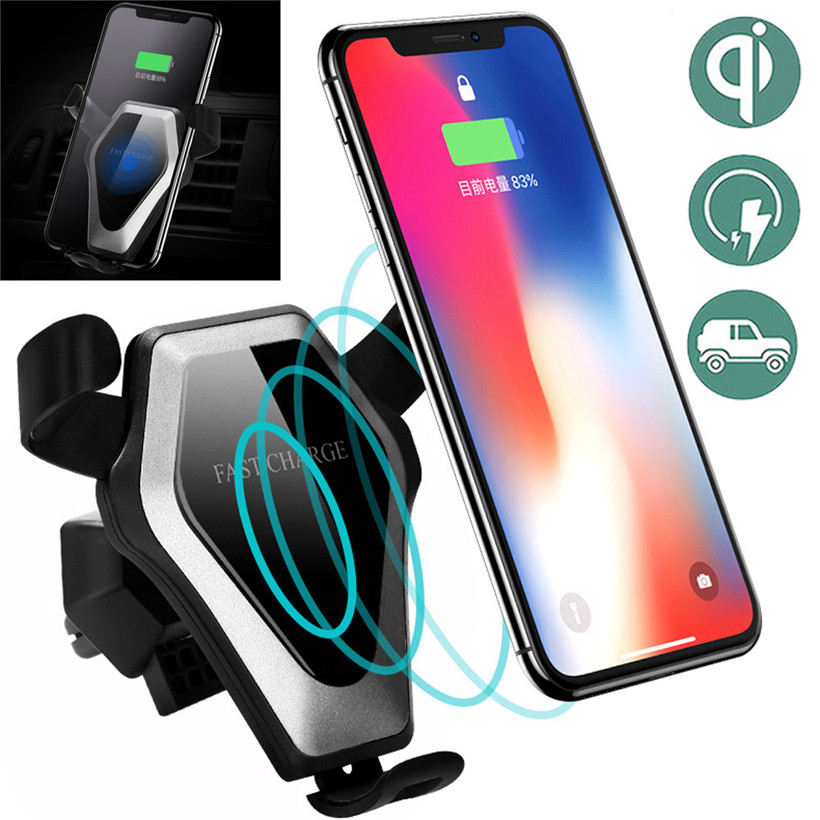 CARPRIE Car Mount Holder Qi Wireless Charger Fast Wireless Charging Magnetic 180312 drop shipping