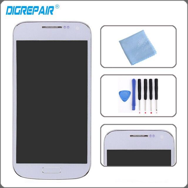 38b52478c94 Blanco para Samsung Galaxy S4 Mini i9190 i9195 LCD pantalla táctil  digitalizador Asamblea con bisel marco