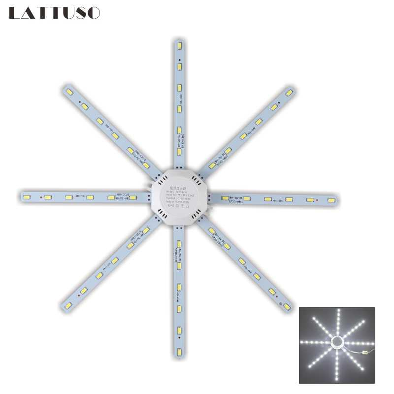 Lattuso LED Lampu Langit-langit Gurita Light 12W 16W 20W 24W LED Light Board 220V 5730SMD hemat Energi Harapan Lampu LED