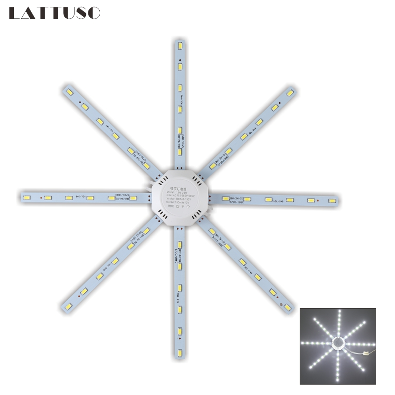 LATTUSO LED Ceiling Lamp Octopus Light 12W 16W 20W 24W LED Light Board 220V 5730SMD Energy Saving Expectancy LED Lamp