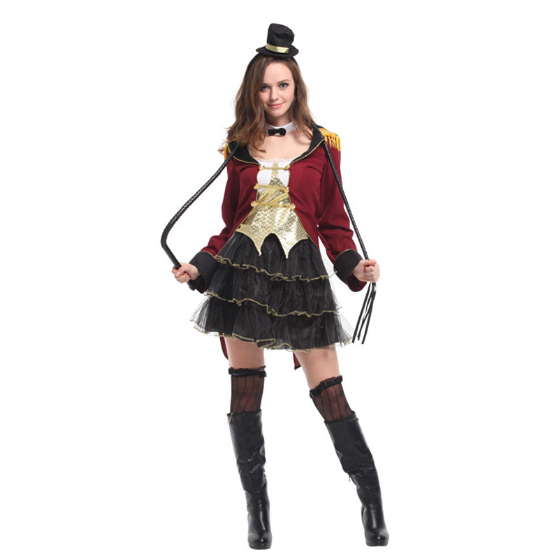 New Halloween Zoo Circus Female Animal trainer Costume Women Role play Magician Tuxedo Cosplay Carnival parade Masquerade dress-in Holidays Costumes from ...  sc 1 st  AliExpress.com & New Halloween Zoo Circus Female Animal trainer Costume Women Role ...