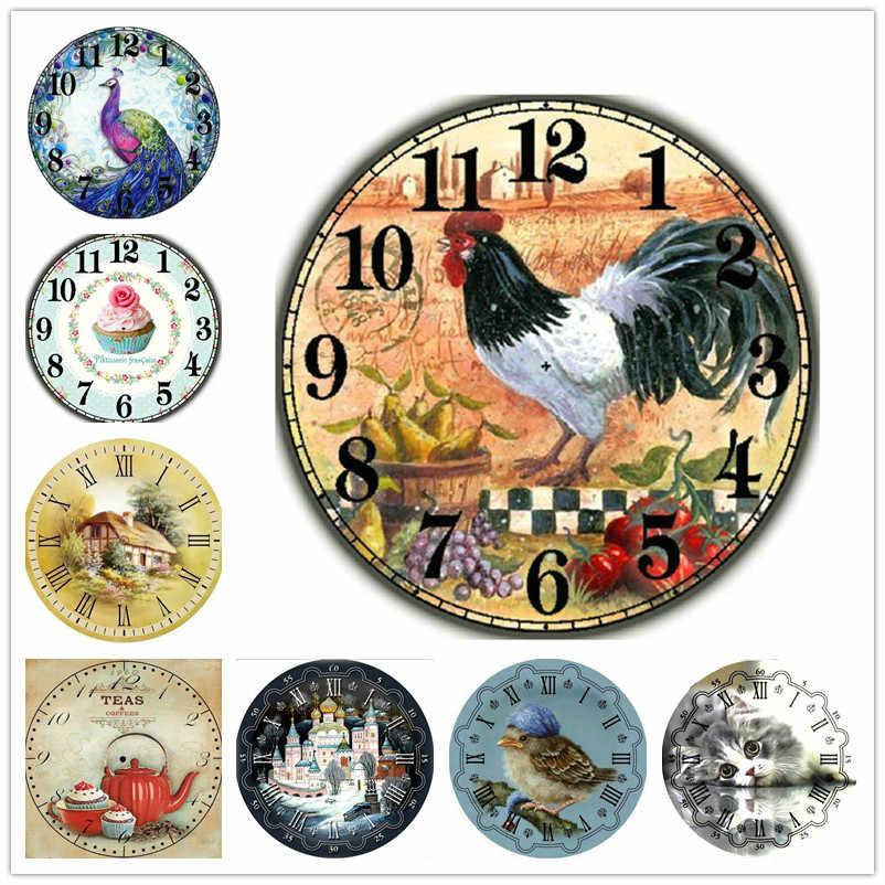 Новинка, хит, 21 шт., набор часов для алмазной живописи, полная квадратная дрель, Алмазная мозаика, сделай сам, 3d, полная круглая Алмазная вышивка, настенные часы