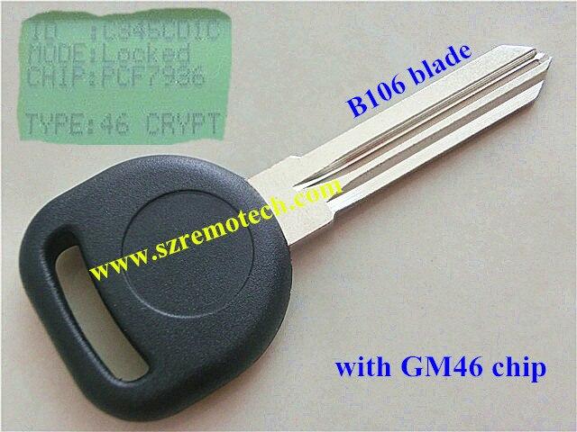 Кади транспондера ключ с 46 закрывается чип ключи от машины B106 лезвие