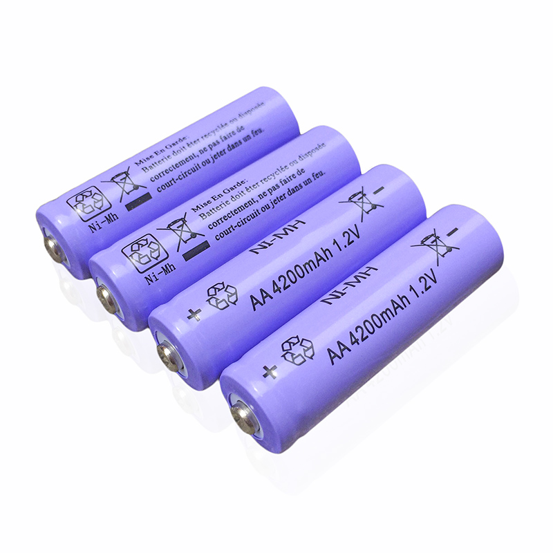 New Arrival 4pcs 4x MICKTICK Rechargeable Battery AA 4200mAh NI-MH 1.2V aa 2A 5# Baterias Batteries toys Camera watch clocks