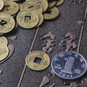 Image 4 - 100Pcs Chinesischen Feng Shui Glück Ching/Alte Münzen Set Pädagogisches Zehn Kaiser Antike Vermögen Geld Münze Glück Glück reichtum