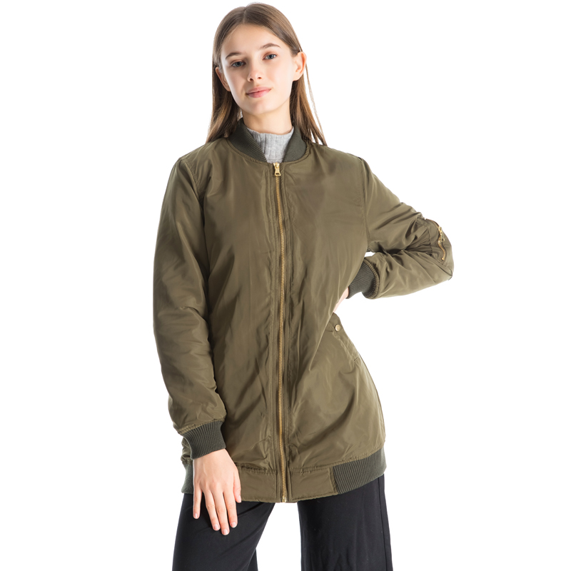 2017 winter jacket women new fashion long bomber jacket ...