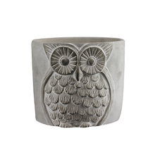 Nicole Silicone Cement Mold Flowerpot Round Shape with Owls Concrete Pen Barrel Mould