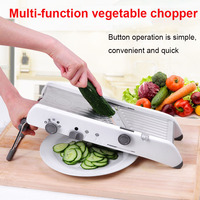 FDA Manual Vegetable Cutter Multifunctional Grater with Adjustable Stainless Steel Blades for Vegetable Fruit Kitchen Accessory