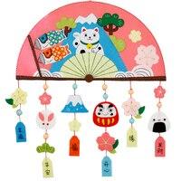 اليدوية اليابانية نمط جدار مروحة شكل غير المنسوجة قلادة قلادة الديكور diy لطيف للأطفال نوم ديكور ديي حزمة