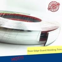8M Car Front Bumper Body Window Door Body Surround Chrome DIY Decoration Strip Silver Self Adhesive Auto Car 30mm