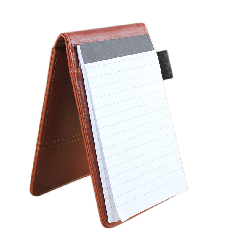 Pocket Notebook Calculator Pen Police Style A7 Leather Effect Padded.
