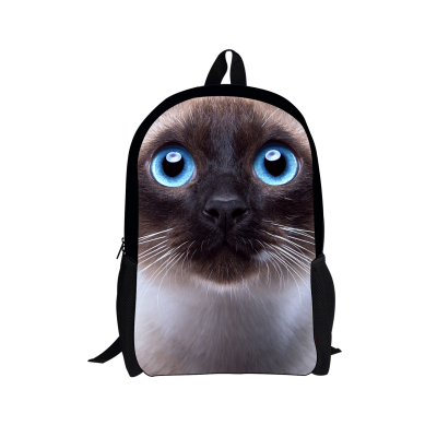 Cute Pet Cat Print Girls Children School Bags Fashion Kids Teenagers Schoolbags Zoo Animal Pet Dog Womens Travel Bags Mochila