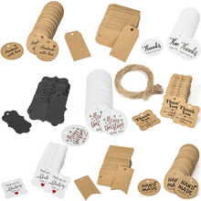 100PCS Natural Kraft Paper Gift Tags Thank you with Red Heart With Jute Twine For Price Tags DIY Crafts Clothing Garment Tags цена в Москве и Питере