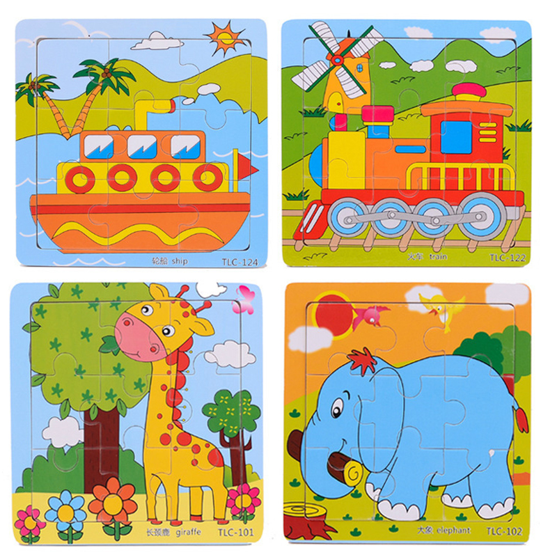 Educational 3d Wooden Jigsaw Puzzles Toys Free Kids Baby Games Toy Wood Puzzles For Children Cartoon Learning Education Toys