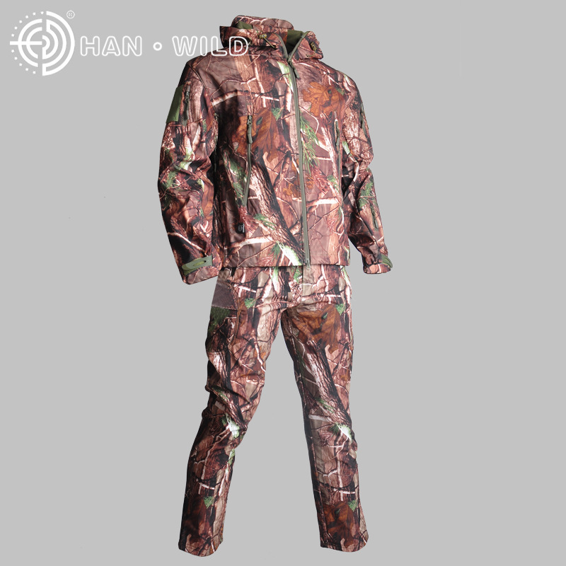 Men Hunting Fishing Clothing Breathable Camouflage Coat Army Tactical Sport Jacket & Pants Military Combat Uniform Hunt Clothes