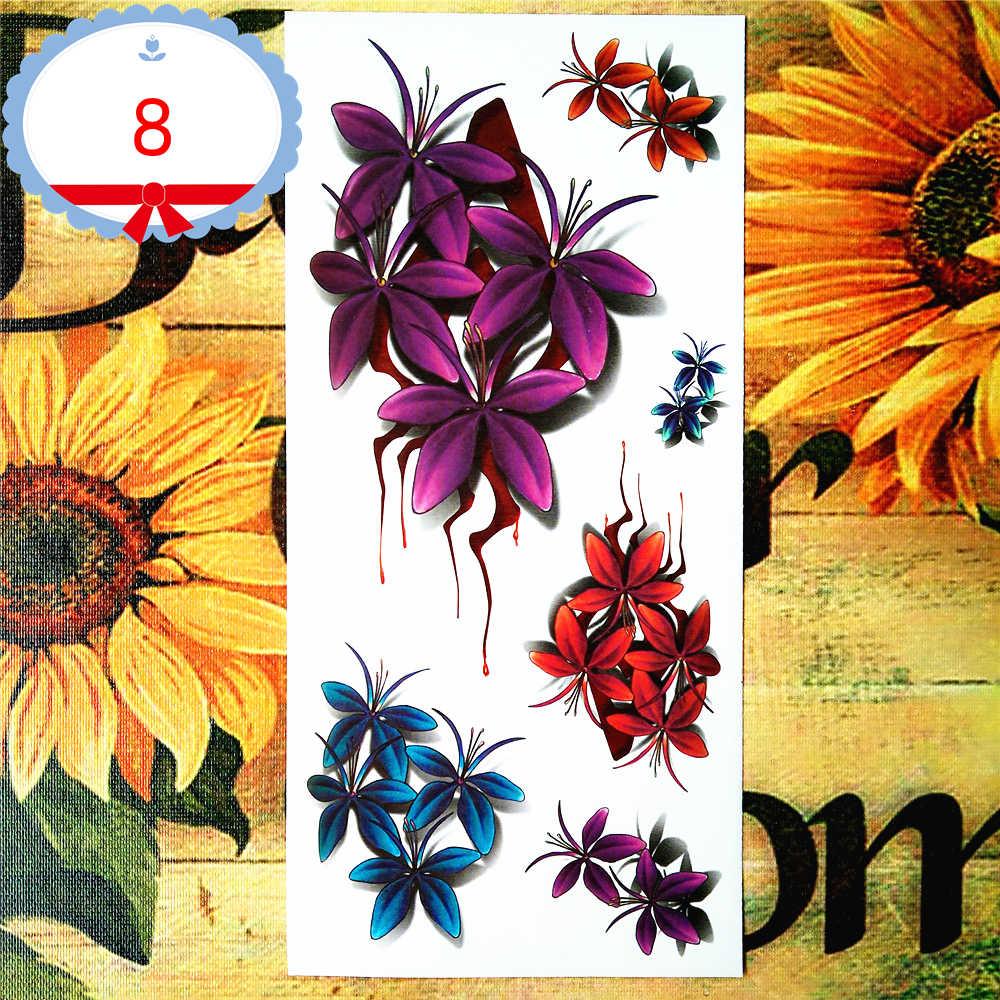Nu-TATY цветок крови 3d временная татуировка боди-арт флэш-стикер татуировки s 19*9 см водонепроницаемый поддельный тату домашний Декор стикер на стену