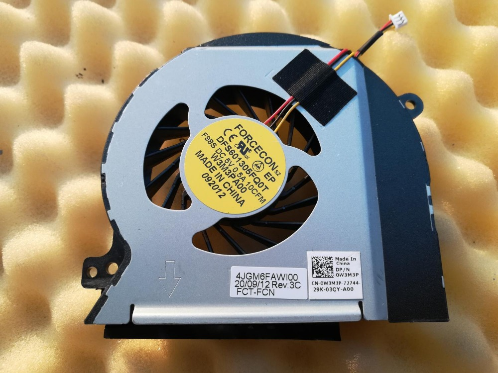 0W3M3P CPU Cooling Fan Brand New For Dell XPS 15 L501X L502X DP//N