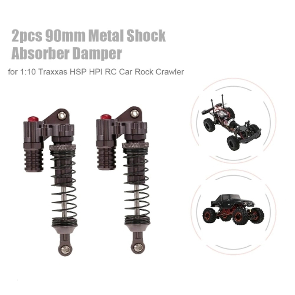 2pcs Rc Car Parts 90mm Metal Shock Absorber Damper For 1