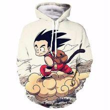 Anime Dragon Ball Z Pocket Hooded Sweatshirts Kid Goku 3D Hoodies Pullovers Men Women Long Sleeve Outerwear Hip Hop Hoodie