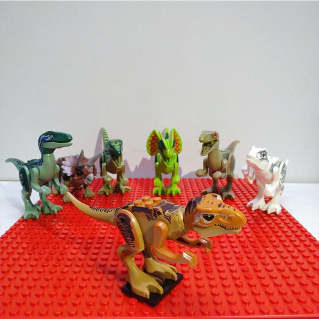 Assemble Building Blocks Jurassic Park Dinosaur World Pterosaurs Triceratops Models Toys for Children Bricks Birthday Gift
