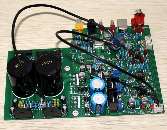 DAC 1955 Decoding + LM3886 Power Amplifier Board (Fiber Coaxial USB Decoding) 2018 tda7492 bluetooth amplifier fiber optic coaxial usb dac decoding amplifier 50w 50w hifi amplifier