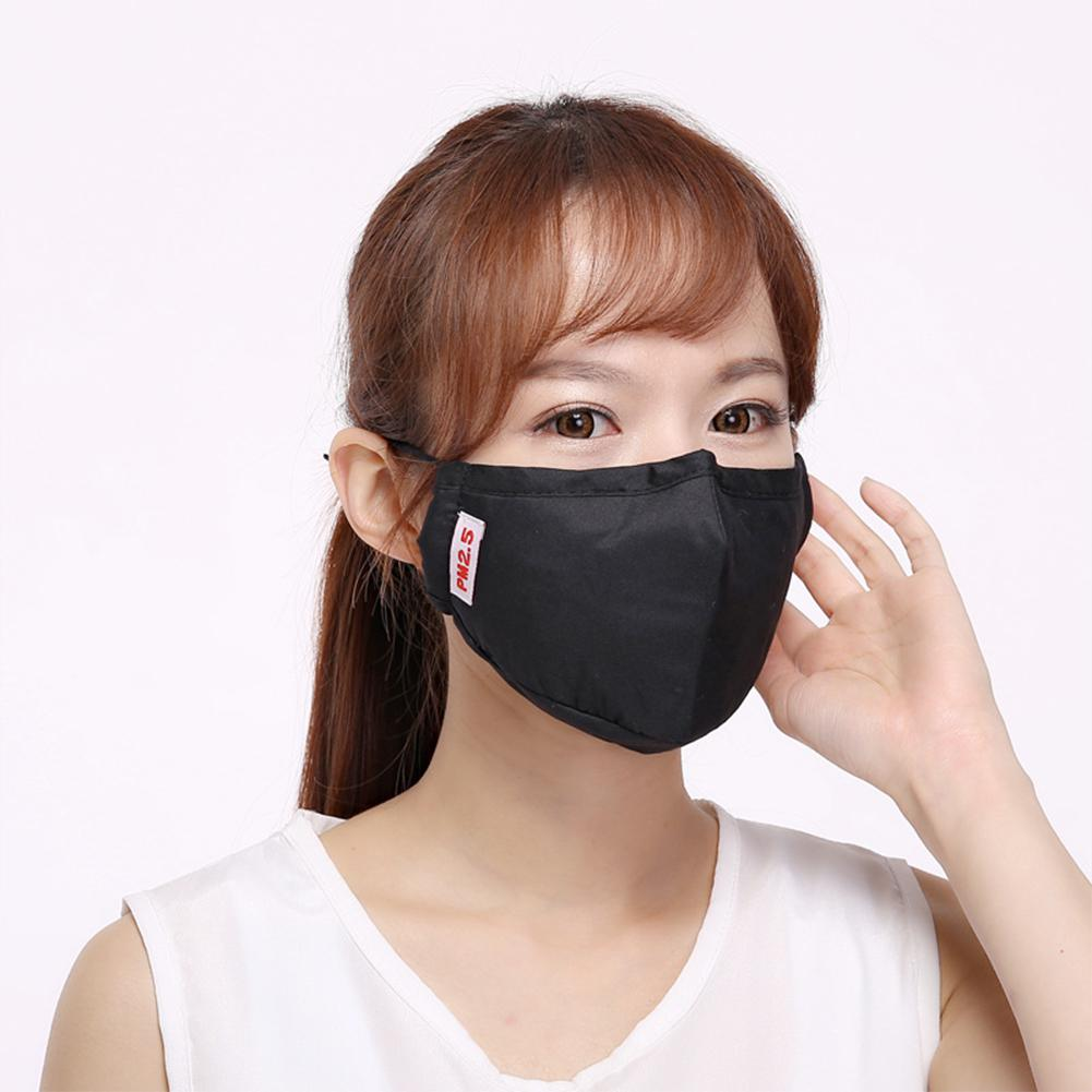 Adult Models Unisex Summer Black Activated Carbon Mask Anti-formaldehyde Anti-fog Pm2.5 Breathable Dust-proof Smoke Mask