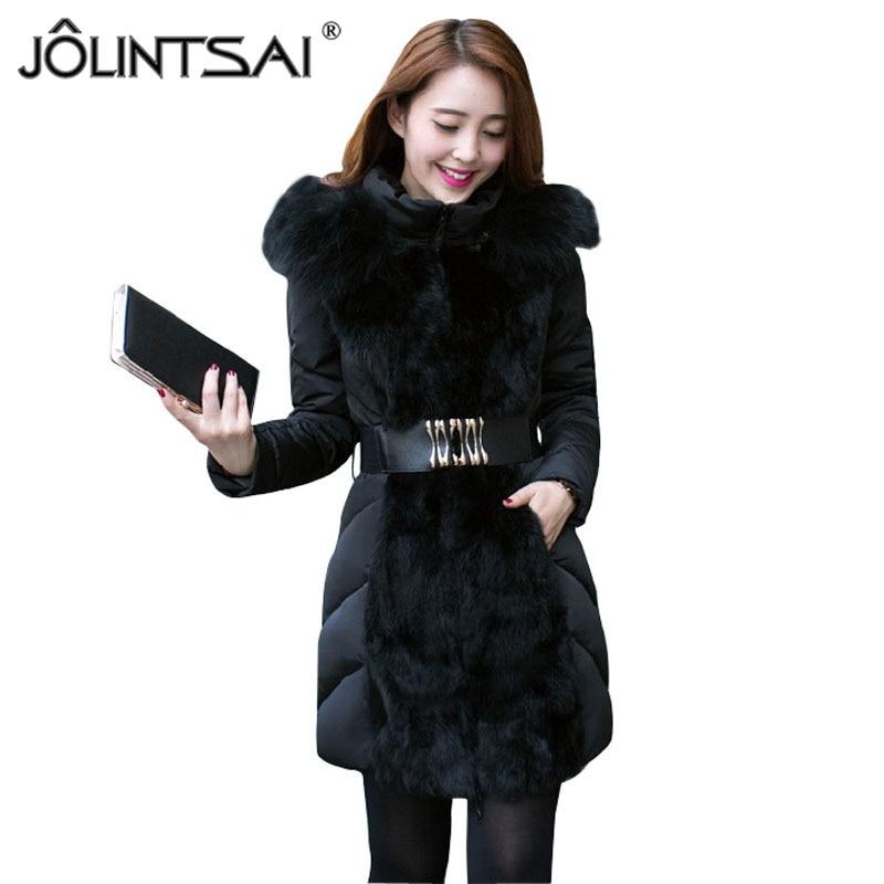 2019 Fashion Autumn Winter Jacket Women Wadded Jackets Parka Slim Fur Collar Hooded Winter Coat Women Luxury Jacket MM0256