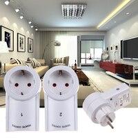 3 шт. Беспроводной Smart Remote Управление Мощность Outlet выключатель света розетка 433,93 мГц Мощность розетка ЕС Стандартный Plug